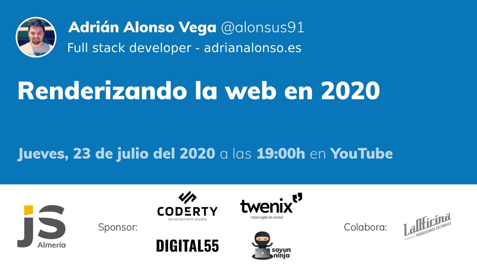 Renderizando la web en 2020